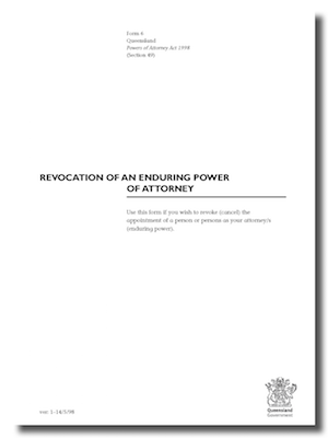Revocation of an Enduring Power of Attorney form