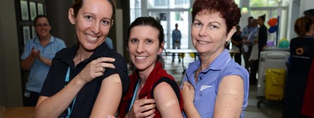 PA Hospital staff Flu vaccination campaign