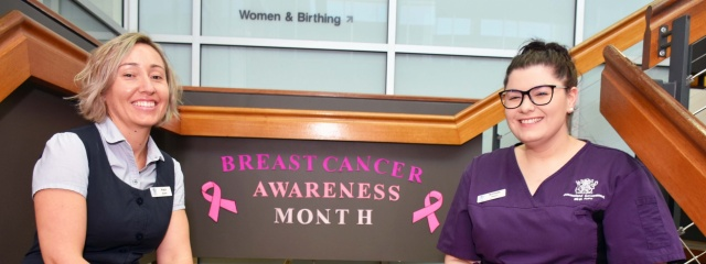 Unit turns pink for breast cancer