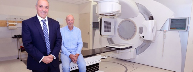 Professor Sandro Porceddu with patient Robert Schampers