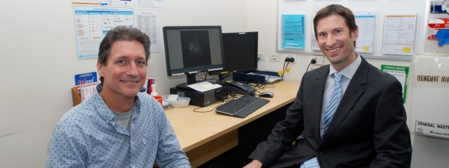 Patient Alan Cornick with Dr David Pryor