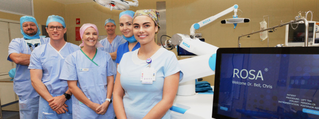 QEII First ROSA Surgery