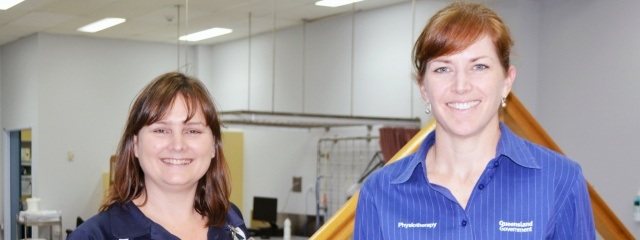 Senior physiotherapists Kate Hooper and Allison Bryant celebrate World Physiotherapy Day
