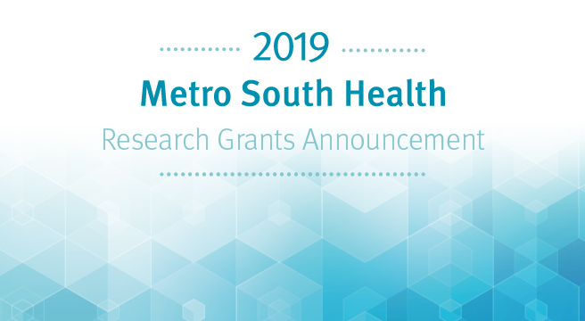 Metro South Health Research Grants Announcement invitation