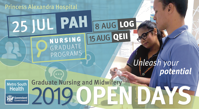 2019 Graduate Nursing and Midwifery Open Days