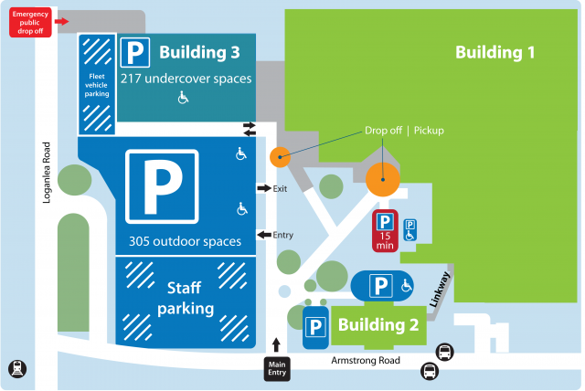 Logan car parking map