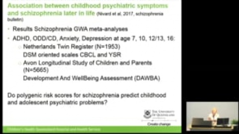 2018 Addiction and Mental Health Research Symposium presentation: Christel Middeldorp