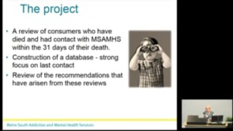 2018 Addiction and Mental Health Research Symposium presentation: Marianne Wyder