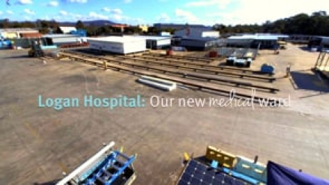 New medical ward - construction timelapse