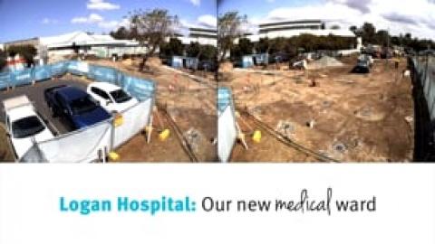 Logan Hospital's New Medical Ward - Construction Timelapse
