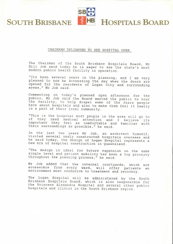 1990 - Chairman statement on the opening