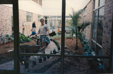 1990 - Landscaping the new Logan Hospital