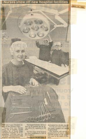 1990 - Nurses show off new hospital facilities