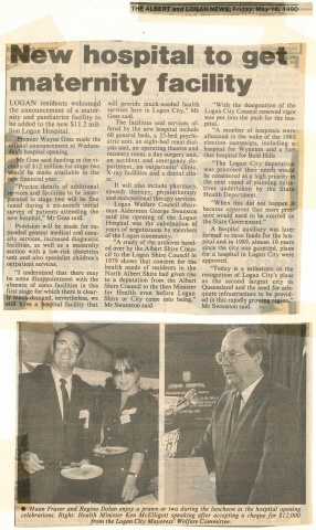1990 - New hospital to get maternity facility
