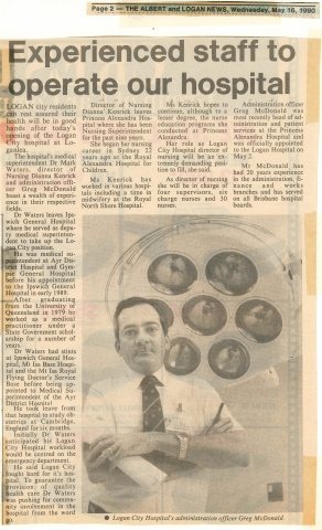 1990 - Experienced staff to operate our hospital