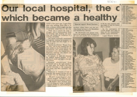 1991 - Our local hospital