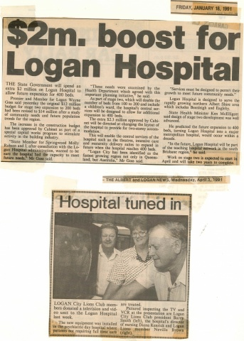 1991 - Stage 2 expansion announced, hospital gets a TV