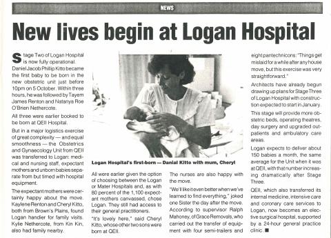 1993 - Birthing begins