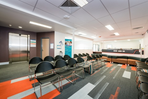 New Logan Central Oral Health waiting room