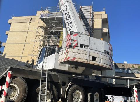 Ward 5A scaffolding