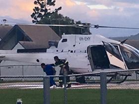 Helicopter landing at Beaudesert
