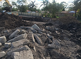 November: time capsule, construction waste caused delays