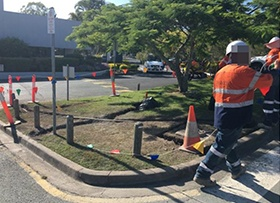 January: Safety barriers in operational TAFE car park