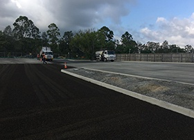 February: Paving works and kerbing