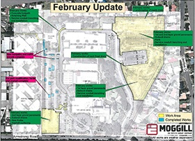 February: Works plan, curbing complete in western park