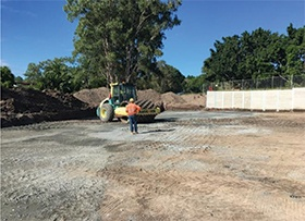 March: Subgrade works eastern
