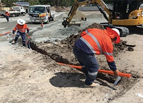 March: Trenching electrical works