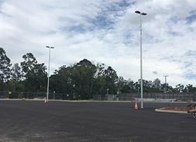 May: Lighting eastern car park