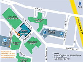 Radiation Oncology Ramond Terrace Campus map