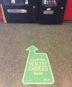 Healthier Choices floor sticker