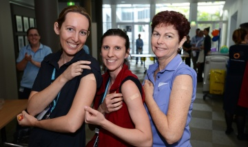 PA Hospital staff Flu vaccination campaign