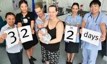 Logan maternity record 32 births in 2 days