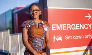 QEII Hospital's first Multicultural Nurse Navigator Aline Mweze