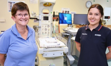 Baby becomes student for Beauy midwife