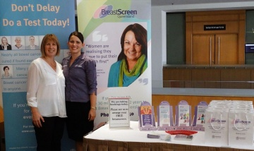 Breast Cancer Screening and Bowel Cancer Screening representatives from Metro South Health