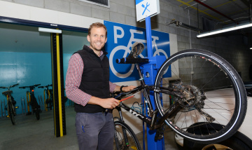 PAH new onsite bicycle facility for staff in Basement Carpark
