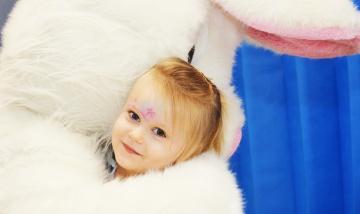 Easter bunny hops into Logan Hospital