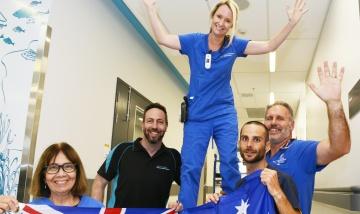 Logan Hospital staff answer Comm Games call