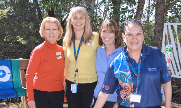 Smoking ceremony launches Logan Hospital's new Yarning Circle