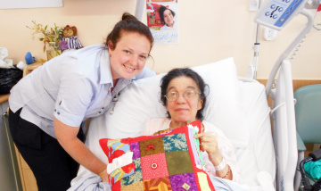 New Beaudesert fiddle cushions have calming effect on patients