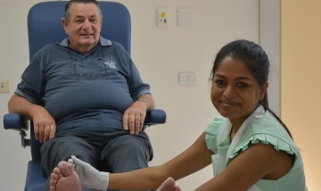 Senior podiatrist Rita Raj at the QEII Foot Clinic