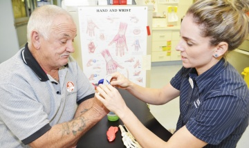 Redland Hospital hand therapy a key part of recovery journey