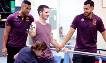 Broncos players visit Bruklan Marshall - PAH news