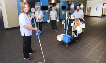 PAH iso cleaners on the frontline