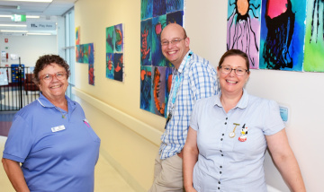 New art reducing stress for patients and families