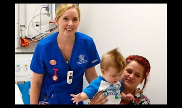 First patient in the Logan Hospital emergency department